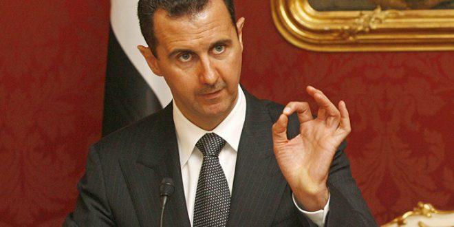 الأسد: الهجوم الكيماوي مفبرك مائة بالمائة