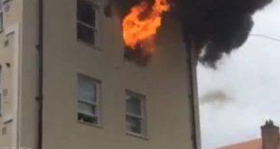 حريق في مبنى منخفض بشرق لندن