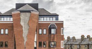 """عمل فني إبداعي على شكل مبنى يتشقق في """"هامرسميث"""""""