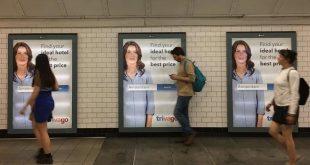 """غضب سكان لندن من ملصقات إعلان """"تريفاغو"""" المنتشرة في كل مكان بمحطات مترو الأنفاق"""