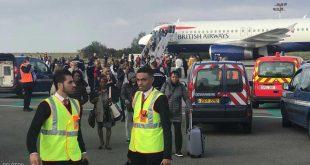 إنذار كاذب يخلي طائرة بريطانية في باريس