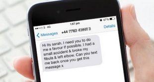 """طريقة جديدة للسرقة عن طريق رسالة نصية مزيفة بإسم """"سارة"""" والرد عليها يكلفك 20£"""
