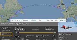 أسرع رحلة طيران من نيويورك إلى لندن بوقت خارق !!