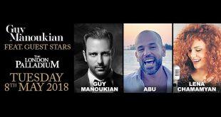"""""""غي مانوكيان"""" و """"أبو"""" و """"لينا شامميان"""" يحيون حفلا في لندن الشهر القادم"""
