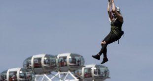 أسرع مسار انزلاقي zipline في العالم يعود إلى لندن