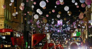 بالصور: بدء تشغيل أضواء عيد الميلاد في شارع أكسفورد وسط لندن