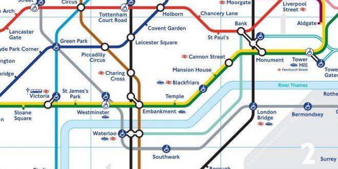 """شرح أسباب اختيار الألوان في خريطة مترو أنفاق لندن """"الأندرغراوند"""" والقصص التي وراءها"""