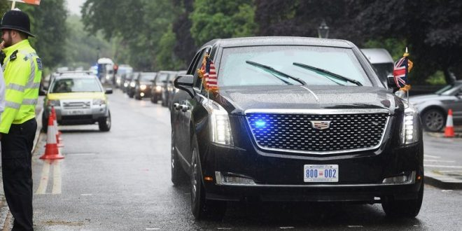 ترامب مدين لهيئة النقل في لندن ب 750 جنيه استرليني رسوم خلال زيارته للمملكة المتحدة