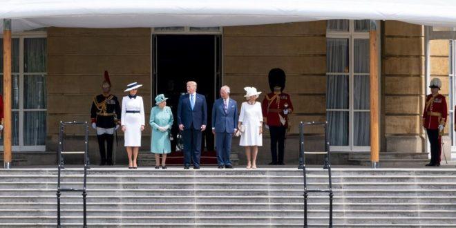 الملكة إليزابيث تستقبل ترامب في لندن