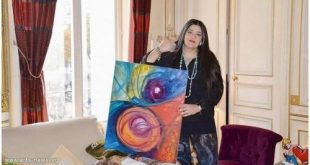 الفنانة السعودية العالمية شاليمار شربتلي تفتتح معرض جدة عروس الفن
