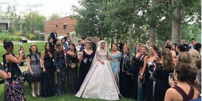 هكذا طلّت بالأبيض عروس ابن إيلي صعب في ليلة من ليالي الزفاف الثلاث