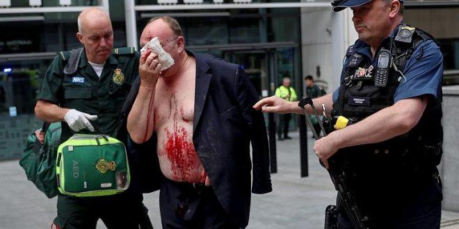 حادثة طعن قرب مقر وزارة الداخلية البريطانية في لندن