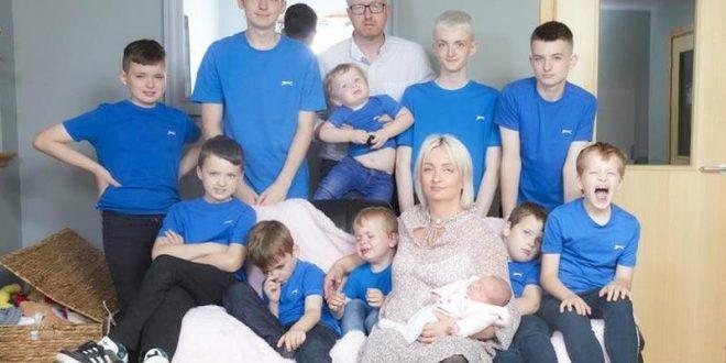 تعرف على أول أم بريطانية تنجب 11 ولداً.. 10 ذكور وفتاة واحدة فقط