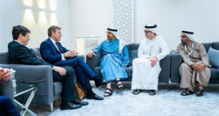 عمدة الحي المالي في لندن يجتمع بوزير الخارجية والتعاون الدولي الإماراتي