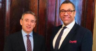 لقاء بين السفير المصري لدى لندن ووزير الدولة البريطاني الجديد للشرق الأوسط