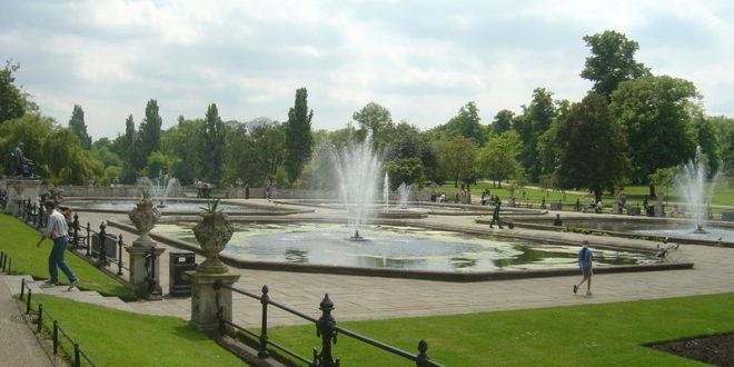 بالفيديو: شرطة لندن تخلي حدائق لندن من أشخاص قدموا للتشمس!!