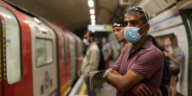 """""""بريطانيا"""" تفرض على ركابها ارتداء الكمامات في وسائل النقل ابتداءً من 15/حزيران."""