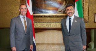 الإمارات تبحث مع بريطانيا سبل تعزيز التعاون المشترك في العديد من المجالات