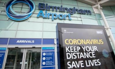 """مطار برمنغهام :تغريم أربعة مسافرين لعدم تصريحهم بسفرهم من بلدان"""" القائمة الحمراء"""""""
