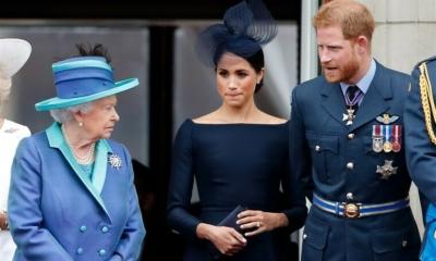 كلمة للملكة إليزابيث في نفس يوم مقابلة الأمير هاري وزوجته