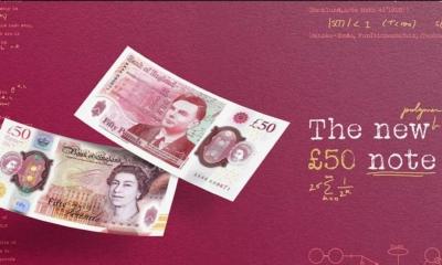 تكريم المشاهير الراحلين في بريطانيا.. صورة عالم رياضيات على فئة 50 جنيهاً!