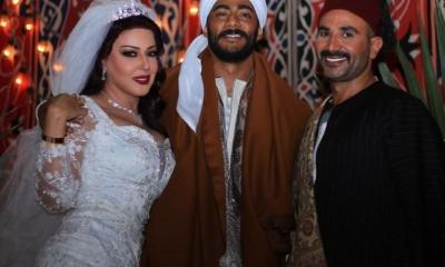 بالصور ..سمية الخشاب تتزوج موسى بحضور أحمد سعد والجمهور يتفاعل