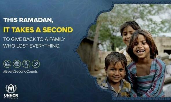 """Every Second Counts"" حملة المفوضيّة السّامية للأمم المتحدة لشؤون اللاجئين في المملكة المتحدة في رمضان 2021"
