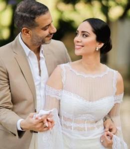 بين البساطة والفخامة.. فستان زفاف جيسيكا عازار أم بسنت شوقي؟