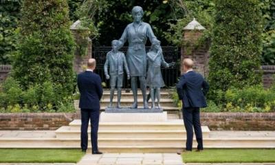 بسبب تمثال والدتهما  .. ويليام وهاري يطويان صفحة خلافاتهما