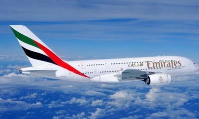 """""""طيران الإمارات"""" تتصدر شركات الطيران عالمياً بـ 15.8 مليون مسافر"""